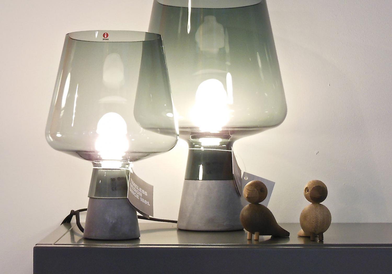 Iittala / Kay Bojesen - Leimu table lamp by Magnus Pettersen and Lovebirds by Kay Bojesen