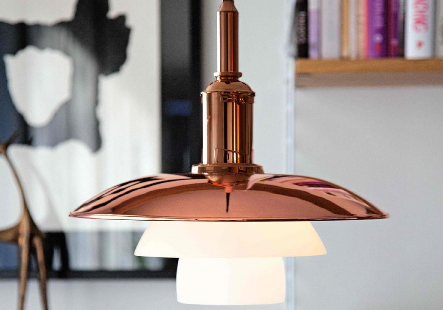 Limited edition: PH 3½ -3 Copper pendant by Poul Henningsen from Loui Poulsen