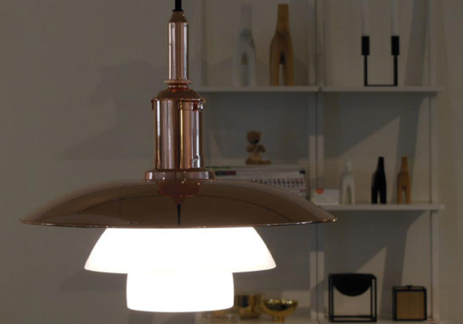 Limited edition PH 3 1/2 - 3 copper by Poul Henningsen from Louis Poulsen