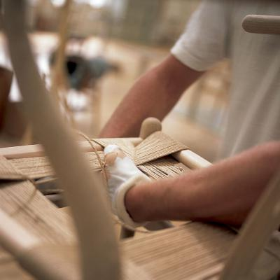 The making of the wishbone chair by Hans J. Wegner, Carl Hansen & Søn
